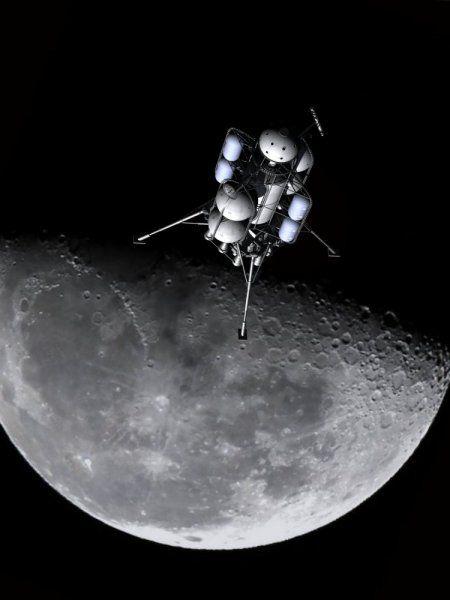 Von Braun/Collier's moon cargo lander: Braun Collier S Moon, Moon Cargo, Cargo Lander, Galactic Empire, Realistic Spacecraft, Von Braun Collier S