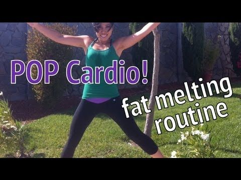 Do this video 4x for a full cardio workout that is SURE to burn a ton of calories and help you lose that stubborn fat covering your muscles. If you're looking to lose weight, this is for you. Fun! Led by fitness instructor and POP Pilates creator Cassey Ho!