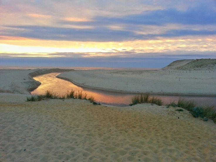 Coucher de soleil sur le courant d'Huchet. #landes #moliets #courantdhuchet #sunset