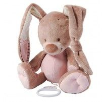 Nattou Rigolos Soft Toy Musical Pull String Bunny