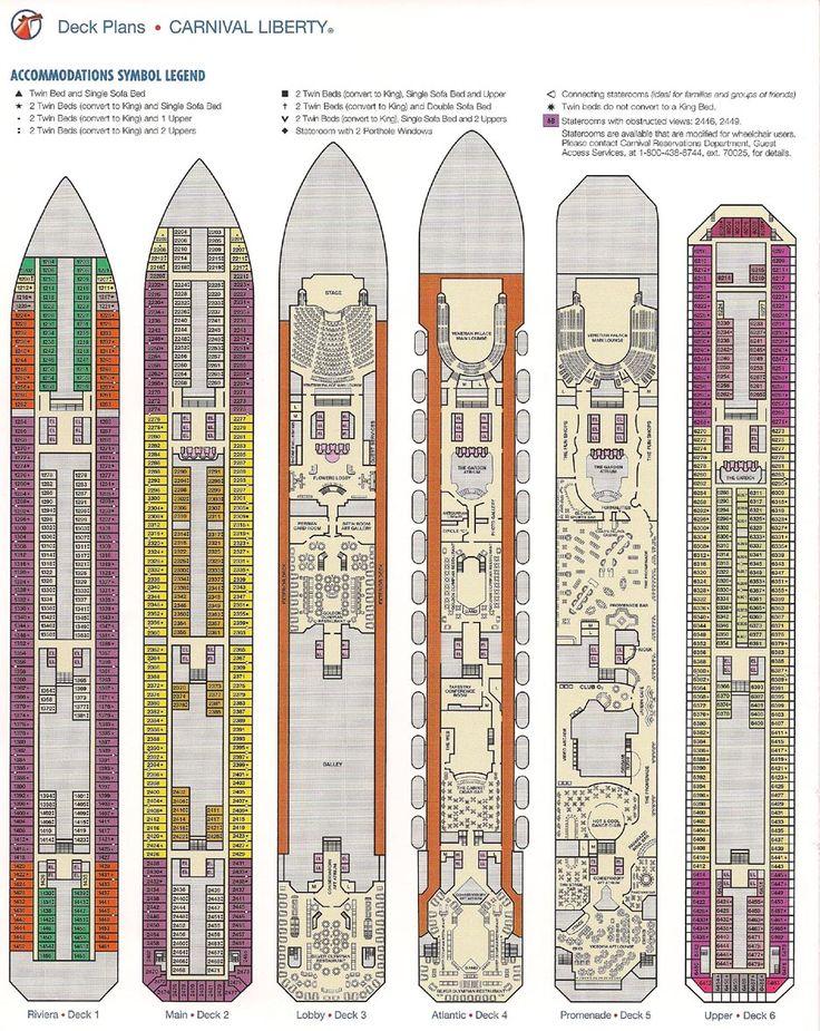 Carnival Liberty Deck Plan
