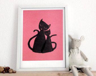 50 Cats  A5 art print