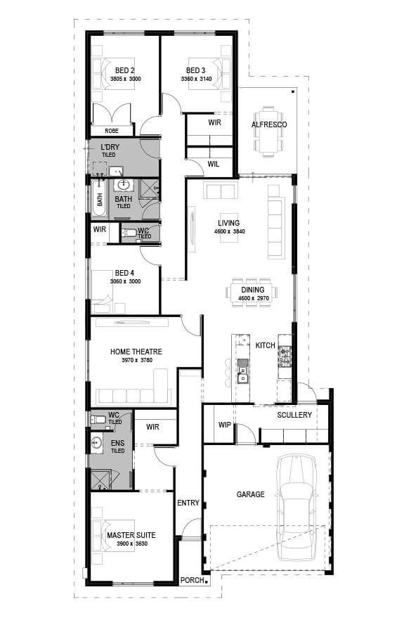 Floorplan House Design Floor Plans Open Plan Living