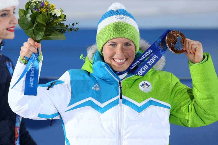 Teja Gregorin, Team Slovenia, bronze medal <3 #Sochi2014  (photo: Aleš Fevžer)