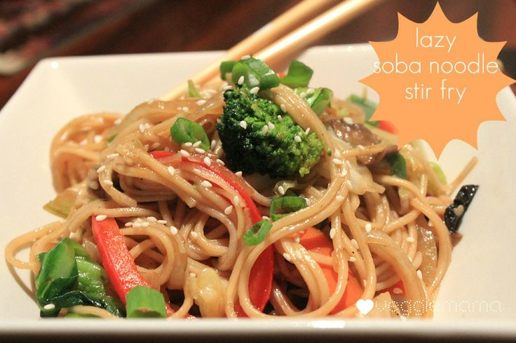 lazy soba noodle stir fry - I tweaked this by marinating tofu in the ...