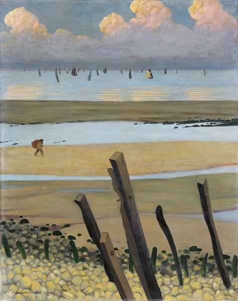 wasbella102:  Félix Vallotton,Low Tide at Villerville,1922.
