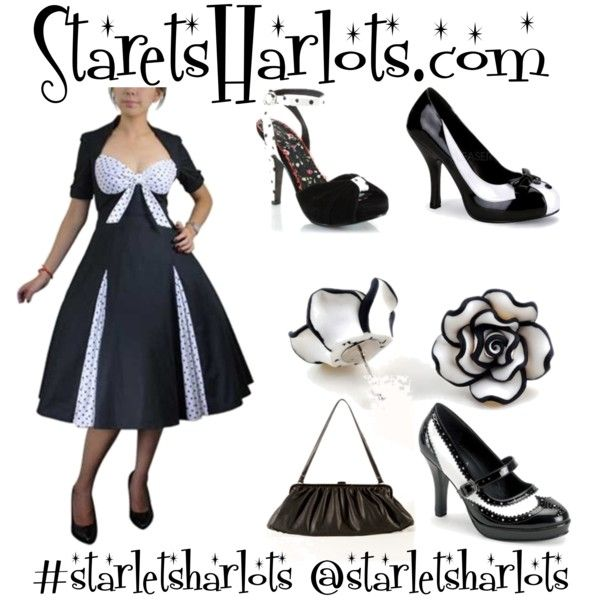 """""""#starletsharlots #pinup #pinupgirl #pinups #vintagedress #1950s #fashion #style #love #beautiful #dresses #rockabilly #retro #vintage #vintageclothes #fifties #cute #vintageclothing"""" by starlets-harlots-com on Polyvore"""