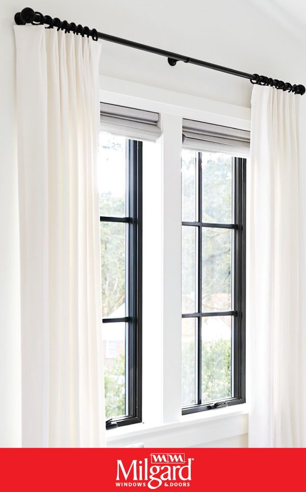 Bedroom Window Ideas Black Window Frames Can Be A Great Contrast For White Or Off White Walls An Black Window Frames Black Window Trims White Curtains Bedroom