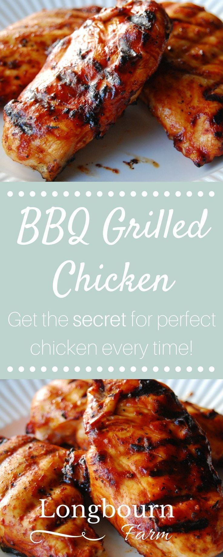 Find out the secret for how to make tender and juicy grilled BBQ chicken! No long brining steps, just a simple grilling method for perfect BBQ chicken. #chickengrill