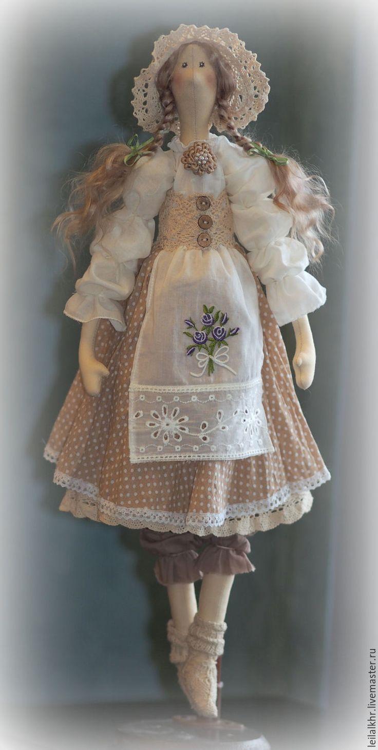 Купить Катрин - бежевый, кукла ручной работы, кукла, кукла в подарок, кукла…
