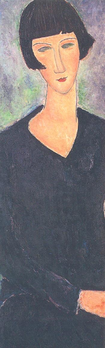 Amedeo Modigliani (Italian, 1884-1920) - Seated Woman in Blue Dress, 1918