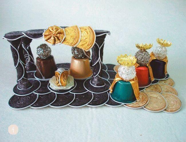 Ideas navide as diy s per originales con c psulas de caf - Manualidades navidenas originales ...