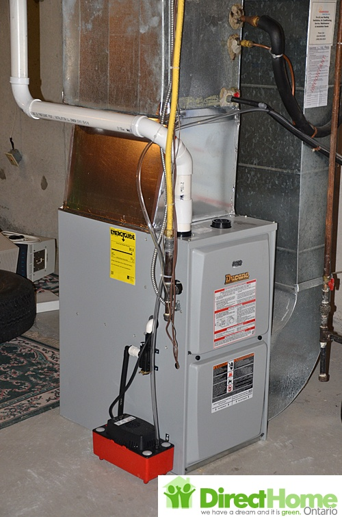 95 AFUE furnace installed. Aurora Furnace installation