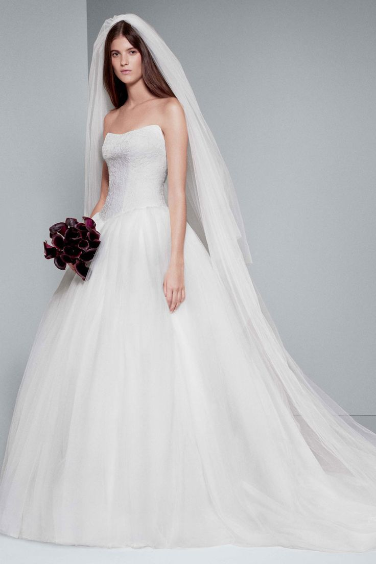 We love this gorgeous vera wang dress complimented with for White by vera wang wedding dresses