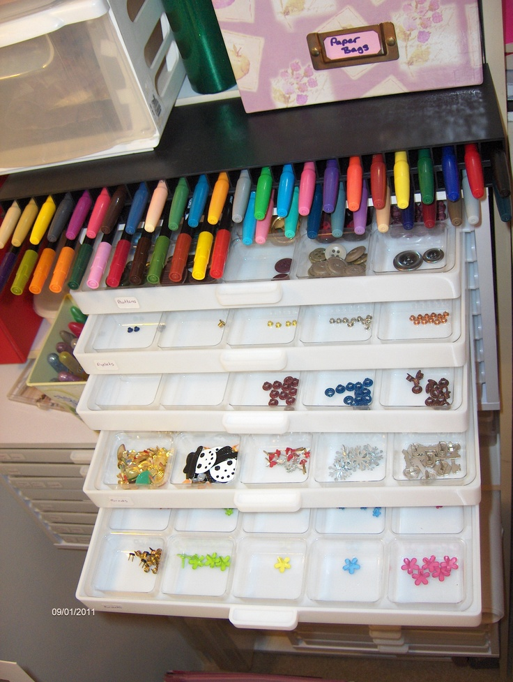 Markers Embellishment Organizers Sbook
