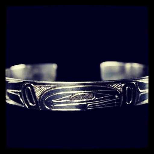 West coast native work! Amazing done on sterling silver.... Excellent pricing must buy www.silverfx.ca