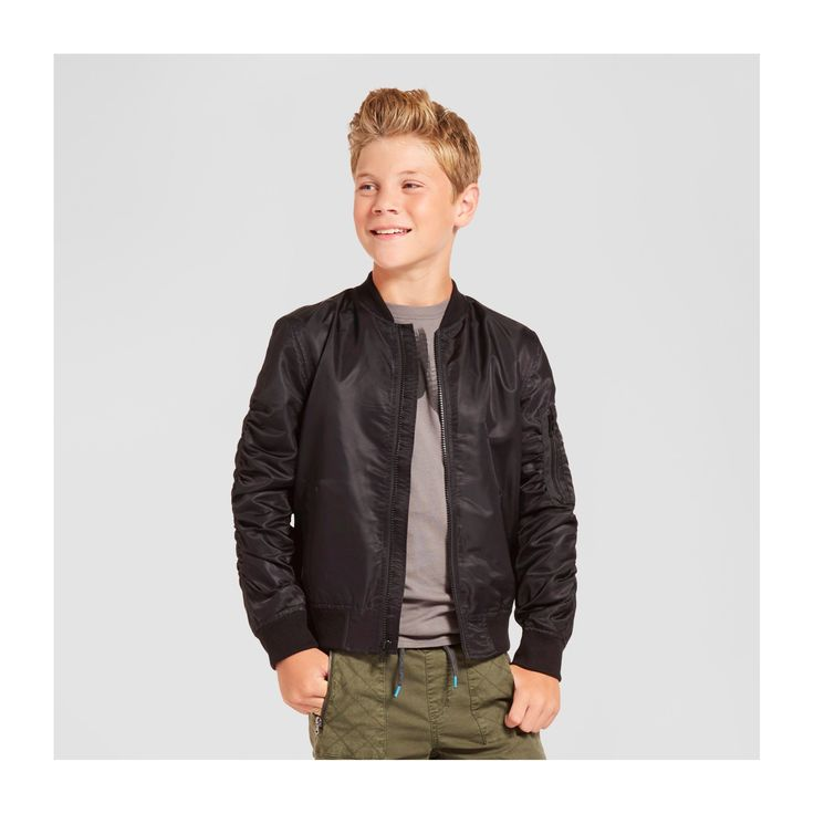 Boys' Bomber Jacket - Black XL - Mossimo Supply Co.