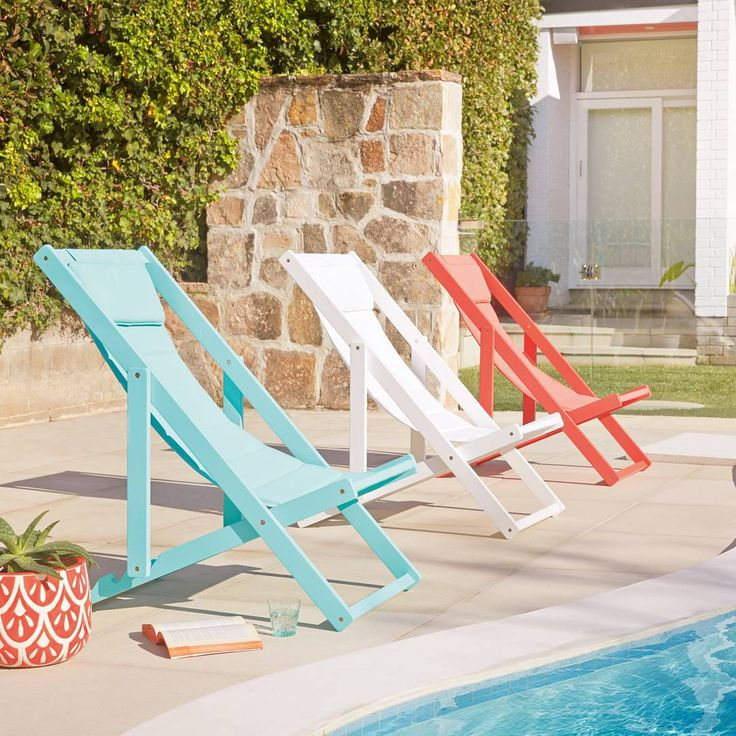 Bright deck chairs are perfect for summer. theguideonline.com.au