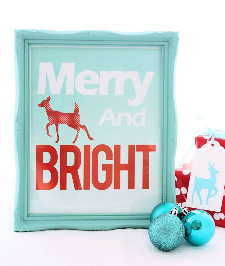 Merry and Bright... free Christmas print