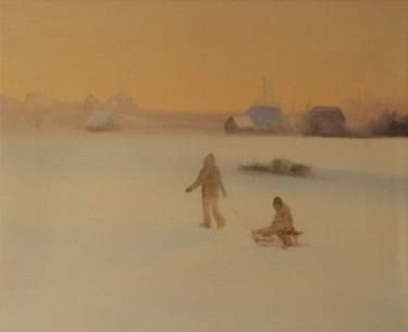 "Saatchi Art Artist Marta Zamarska; Painting, ""Winter Impression 23 (exhibition)"" #art"