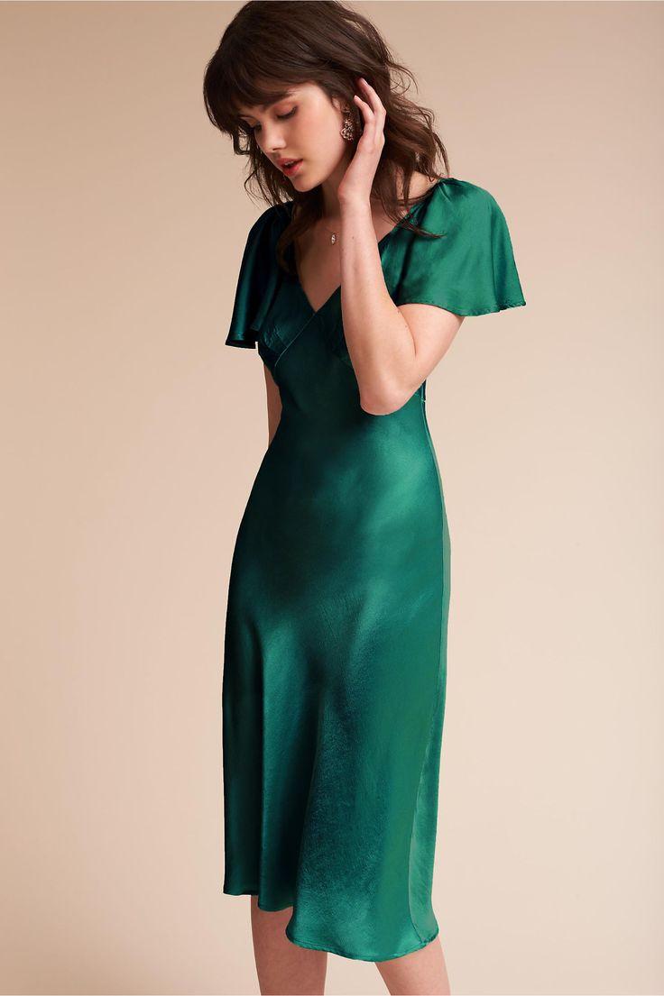 BHLDN Giselle Dress Dusty Green  in  Occasion Dresses | BHLDN
