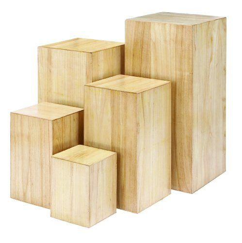 Big Wood Blocks ~ A symbol pedestal and hue on pinterest