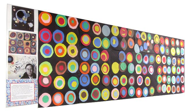 Kandinsky Art Mural Paint Tints And Shades With Tempera
