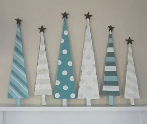 Diy wooden patterned cutout varies sized Christmas deco