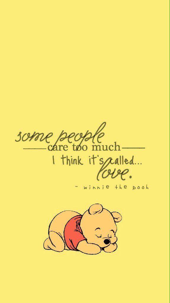 pinarzoo on lockscreens/wallpaper | pooh quotes, cute