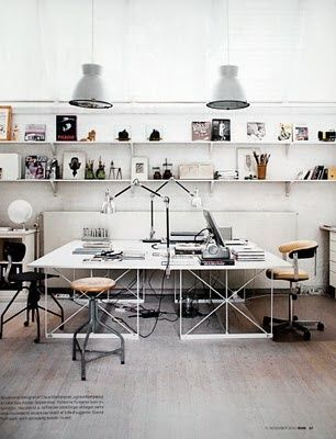 Lighting and tables, shelves #creative #spaces