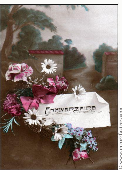 carte anniversaire et jolies fleurs pour envoyer par la poste sur merci facteur. Black Bedroom Furniture Sets. Home Design Ideas