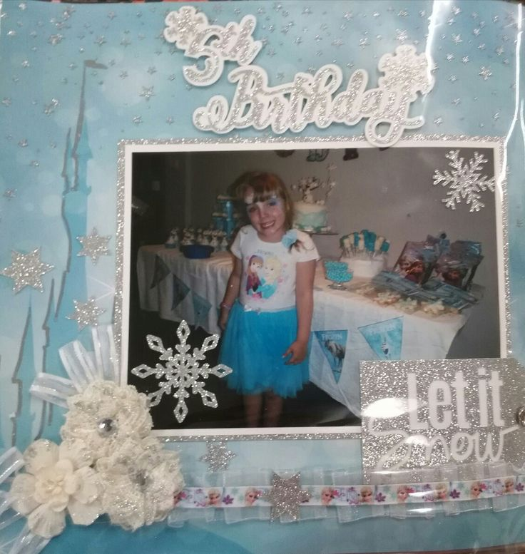 Frozen Party Scrapbooking page