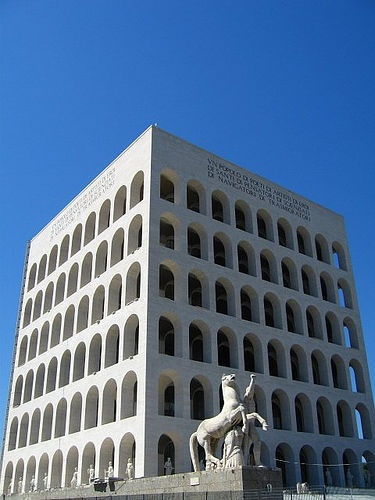 Fascist Architecture, Rome by Frank Hangler, via Flickr. ~I hate, and even fear, this building. The stuff of nightmares