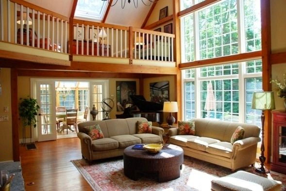 How to choose interior paint colors for post and beam for 1 living room 4 color schemes