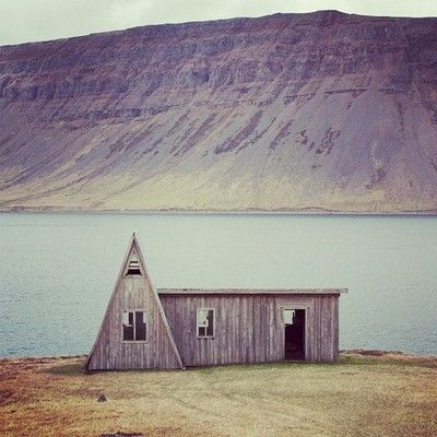 So in love with triangular architecture. Westfjords, Iceland.