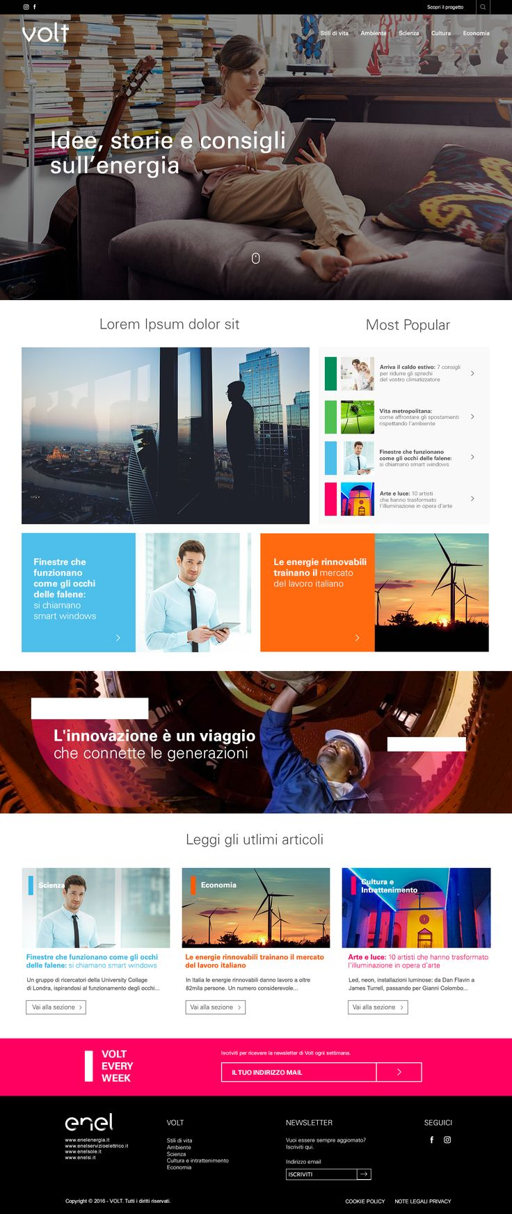 Home page | Gara Enel magazine online | Agency: We Are Social