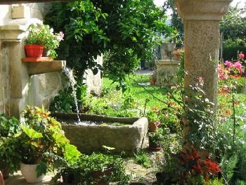 Fuentes en los jardines