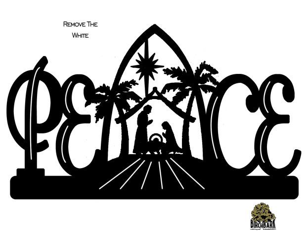 Peace nativity scroll saw pinterest popular posts for Nativity cut out patterns wood