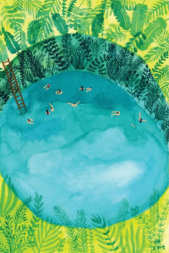 The simple delight of swimming, captured by illustrator Joanne Ho