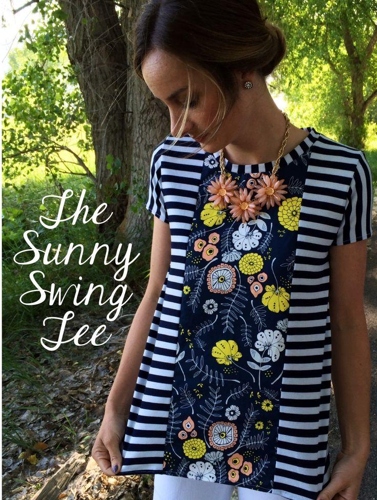 Eine tolle kostenlose Anleitung um ein bezauberndes asymmetrisches Shirt bzw. Top aus verschiedenen Stoffen zu nähen. Leichte Ärmel für einen warmen Sommer!