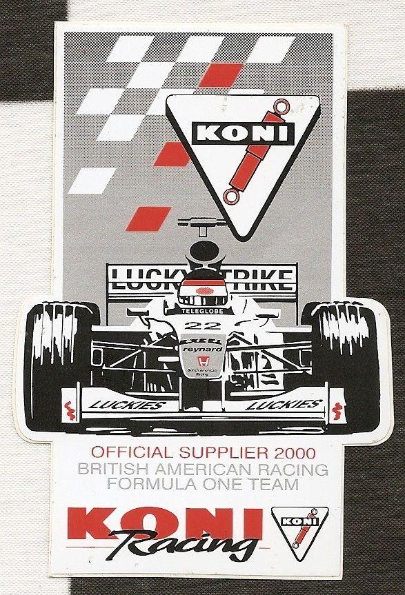 Details About 2000 Koni Racing Bar Honda 002 F1 Gp Team