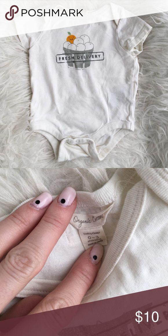 "Baby gap organic cotton ""fresh delivery"" onesie Baby gap organic cotton ""fresh delivery"" onesie size 0-3 months GAP One Pieces"