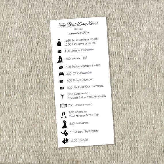 48 best Wedding Day Schedule images on Pinterest Wedding bells - wedding timeline