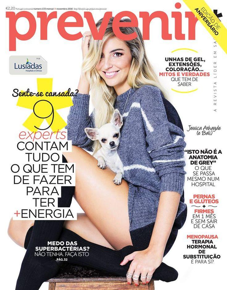 Jessica Athayde na revista Prevenir Portugal Novembro 2016
