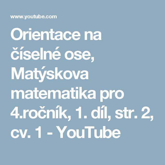 Orientace na číselné ose, Matýskova matematika pro 4.ročník, 1. díl, str. 2, cv. 1 - YouTube