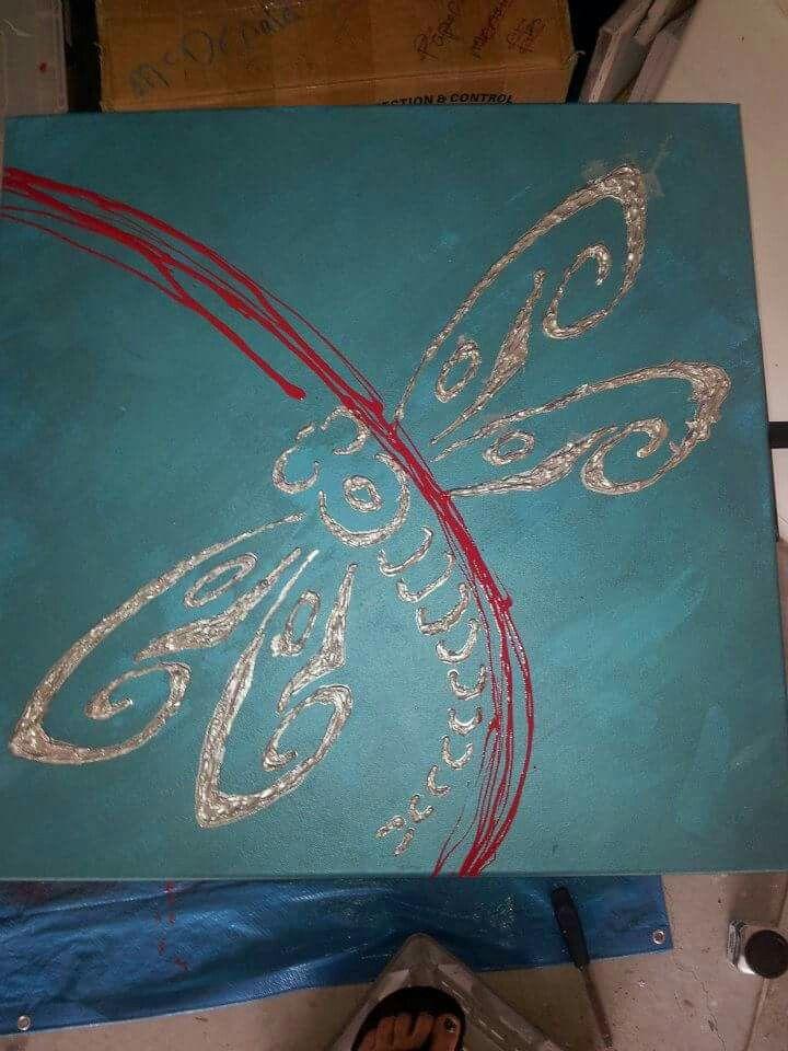 Dragonfly acrylic on canvas