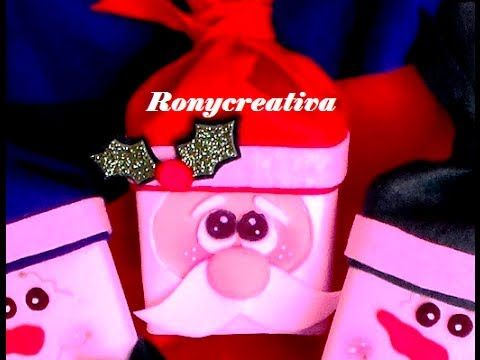 CAJITA - DULCERO DE SANTA CLAUS / HOW TO MAKE A SANTA CLAUS BOX DIY