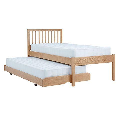 Buy John Lewis Morgan Trundle Guest Bed with Mattresses, Single, Oak Online at johnlewis.com
