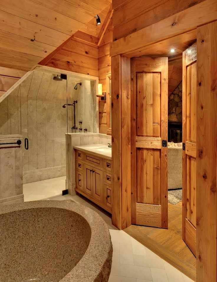 97 best images about bathroom ideas on pinterest rustic for Bath cabin