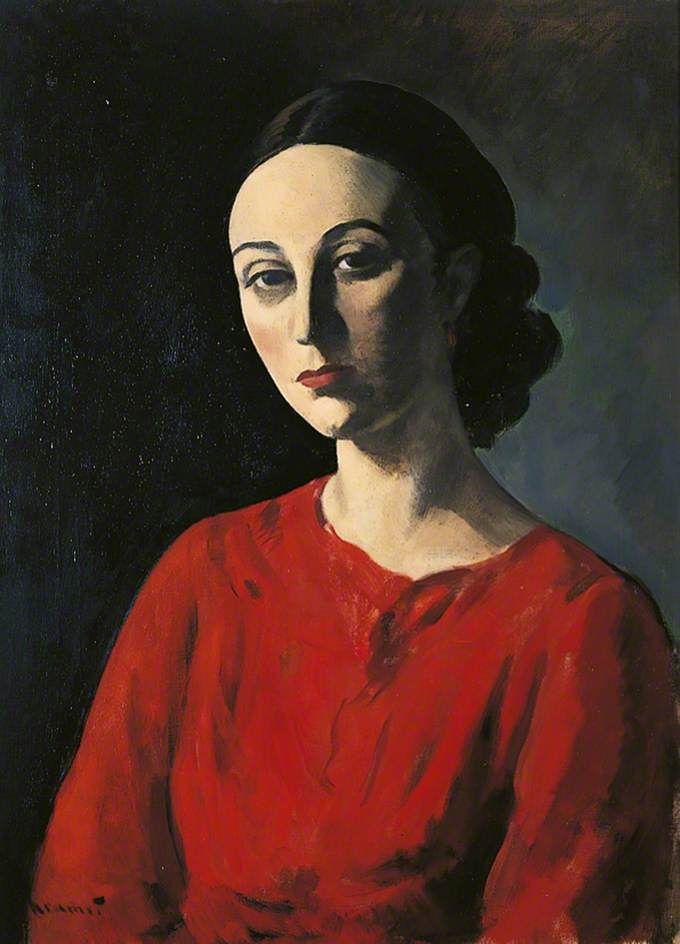 Jacob Kramer - Portrait of a Lady, ca. 1935 (British 1892–1962)